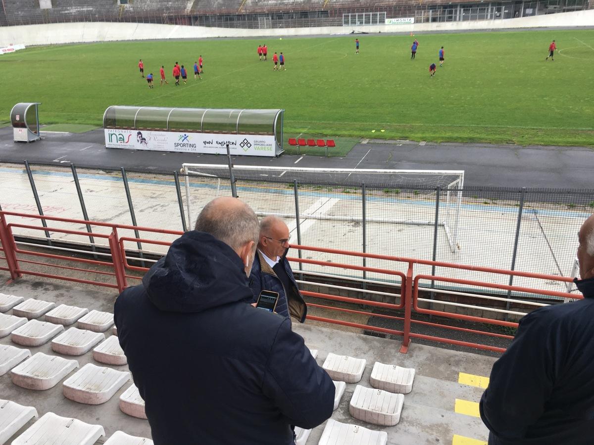 Berni allo stadio per l'allenamento. Con lui anche Beppe Accardi, che scrive a Capozucca…
